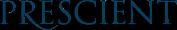Prescient logo white