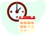 Icon clock calendar